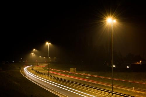 Free photo: Expressway Bridge Night Road City Traffic Highway Speed #154 - 123PhotoFree.com